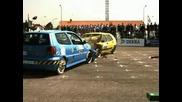 Crash Test - Vw Golf 2 Vc. Vw Polo 3