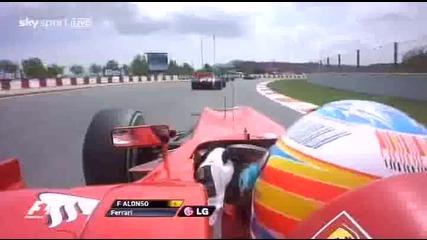 F1 2010 Стартът в Испания Onboard Fernando Alonso