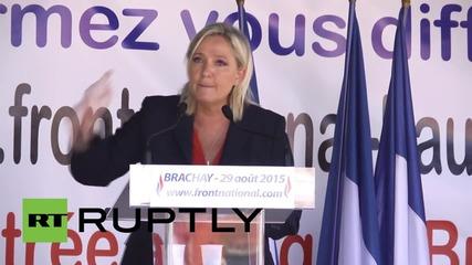 France: Le Pen slams EU and 'radical Islam' during Brachay rally