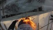През погледа на руснака, скочил запален от 9етажния блок