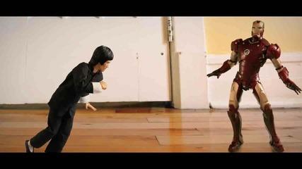 Железния Човек vs Брус Лий