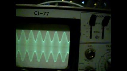Радиопредавател, тестове и осцилограми