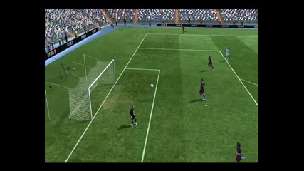 Красив гол (rabona fake+rabona) на C.ronaldo / Fifa 11