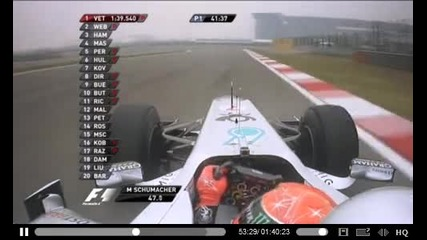 Michael Schumacher -china . on bord