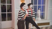 Brie Bella and Lauren perform as mimes during Nikki Bella's bachelorette party: Total Bellas, July 22, 2018