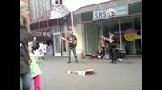 Street guitarists Carlos Vamos amp Lindsay Buckland