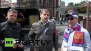Чехия: Фенове на руския отбор по хокей на лед се подготвят за финала на Световната купа срещу Канада
