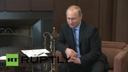 Путин се срещна в Сочи с бившия министър-председател на Либия Саад Харири