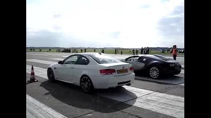 Bmw M3 E92 срещу Bugatti Veyron