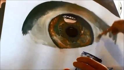 Надя рисува реалистично око