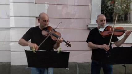 "Улични музиканти в Бургас - лято 2020. ""Por una Cabeza"""