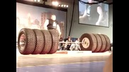 World's Strongest Man - Benedikt Magnusson 1100 Tire Deadlift World Record!