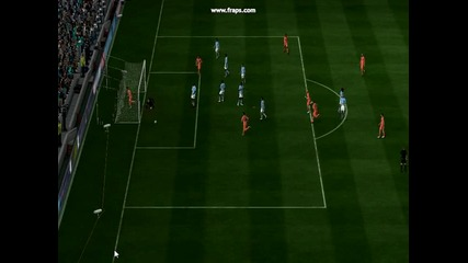 Красив гол на Барселона на Фифа 11