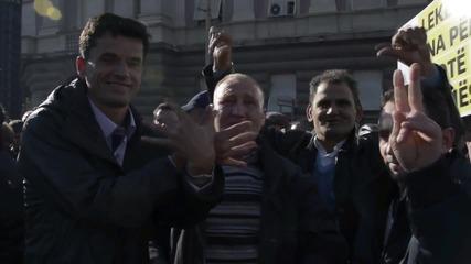 Albania: Anti-govt protesters demand PM Edi Rama's resignation