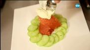 Салата от краставици с доматено сорбе - Бон апети (26.08.2015)