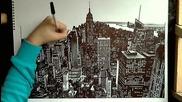 Рисуване на Манхатън, Ню Йорк