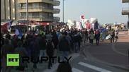 Франция: Анти-бежански протест в Кале