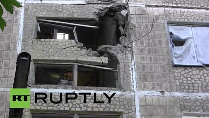 Ukraine: Buildings destroyed in overnight bombardment on Oktyabrsky village
