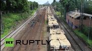 Latvia: US tanks roll through Riga en route to Atlantic Resolve drills