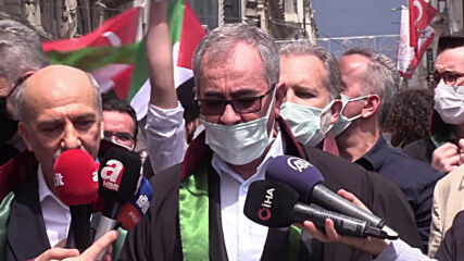 Turkey: Lawyers rally in Istanbul to show support for Palestine