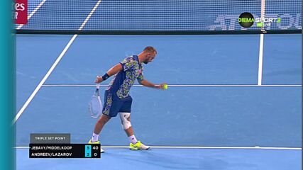 Андреев и Лазаров отпаднаха в първия кръг на двойки на турнира по тенис в София