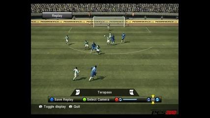 Pro Evolution Soccer - Странична ножица + бразилски гол.невероятно изпълнение на Malouda (10/10)
