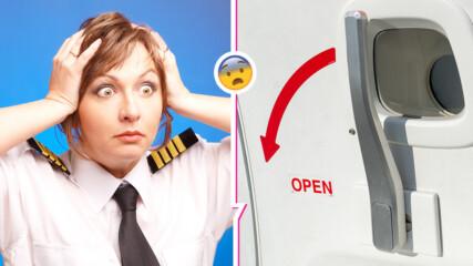 Жена се опита да отвори вратата на самолет по време на полет, вързаха я с тиксо за седалката