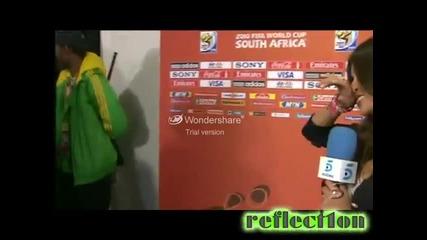 World cup final - Икер Касиас целува приятелката си