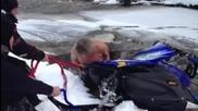 Четири снегохода под леда