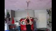 Hot girl falls for the water bowl on ceiling prank _from Mtv Pranked_