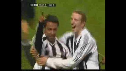Newcastle Soalno vs. Everton - 25february 2006 Ft 2 - 0