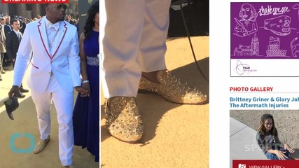 Dante Fowler Struts In Gold Spiked Louboutins At NFL Draft