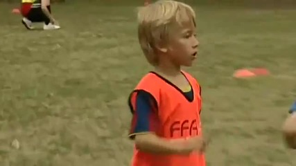 Amazing football kid has trial with Barcelona