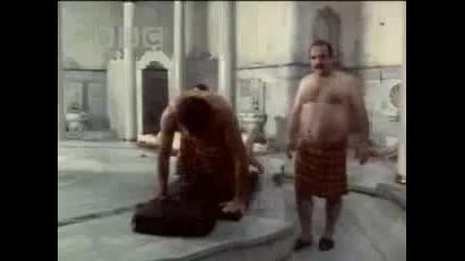 Michael Palin на турска баня в Истанбул Bbc