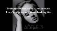 Adele - Set Fire to the Rain Lyrics ( + Превод )