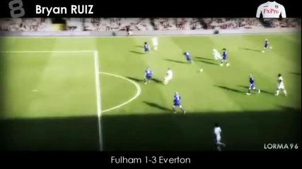 Barclays Premier League • top 10 goals • 2011/2012