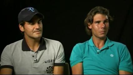 Федерер разсмива Надал