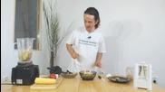 Спагети от тиквички с вкусен сос от кълнове и зеленчуци