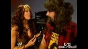 Melina Backstage With Foley (8.21.06 Raw)