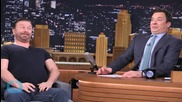 "Jimmy Fallon and Ricky Gervais Get the Giggles During Their ""Funny Face Off"""