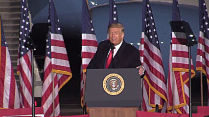USA: Trump touts Middle East deal and foreign policy record in Mosinee