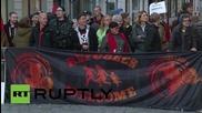 Гермаия: Анти-бежански протест се вихри из Гросенхайн