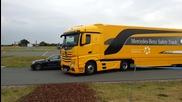 Най-новата Truck система за аварийно спиране от Mercedes-benz