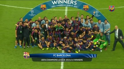 Честито,барса Шампиони/fc Barcelona lift the Champions League trophy