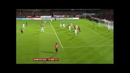 Манчестър Юнайтед 3 - 0 Олдършот Бербатов Гол *hq*