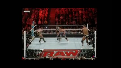 John Cena & Sin Cara vs. The Miz & Alex Riley - Wwe Raw 18.04.11