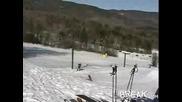 Неуспешен Скок Със Сноуборд