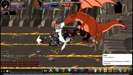 Aqw Maxos i Adi drakona biqt Red Dragon