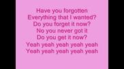 Avril - Forgotten Lyrics
