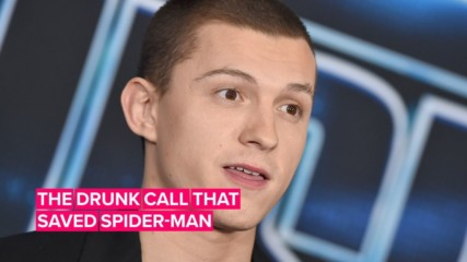 Tom Holland was drunk when he saved Spider-Man